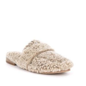 Free People Faux Shearling Ease Mules Size 37 $128